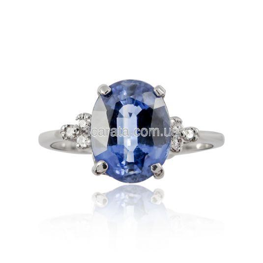 Золотий перстень з кіанітом та діамантами «Морське око»