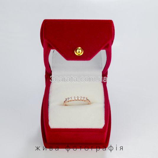 Каблучка жіноча з доріжкою з діамантів 0,21Ct «Мрія»