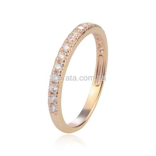 Золота обручка з діамантами «Королева серця»