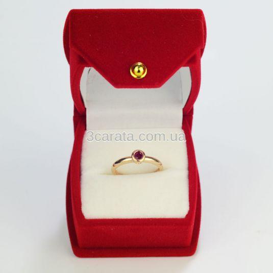 Каблучка із золота з рубіном «Bali»