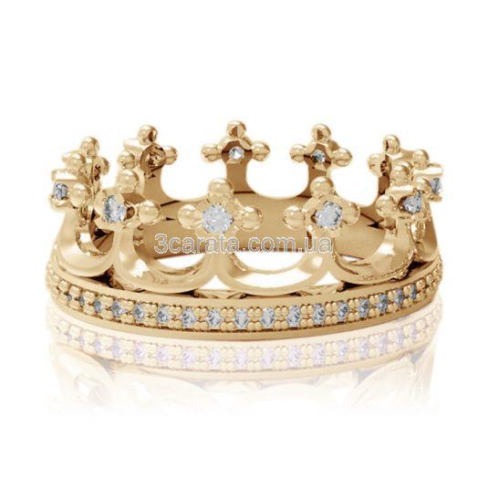 Обручка-корона золота «Моя принцеса» ea68b5999af43