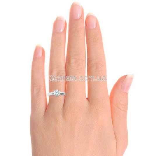 Каблучка заручальна з діамантом 0.5 ct «Століття любові»