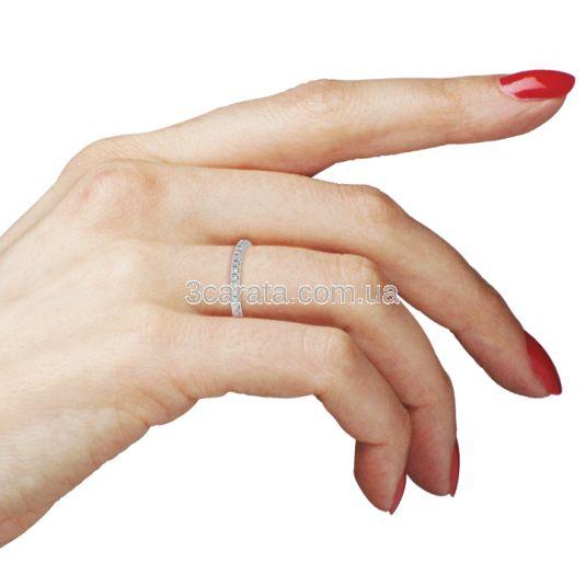 Обручка доріжка з діамантами «Caroline»