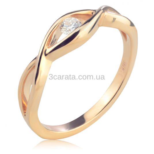 Золота каблучка з діамантом «Дзеркало душі» b27dbd14c5a97