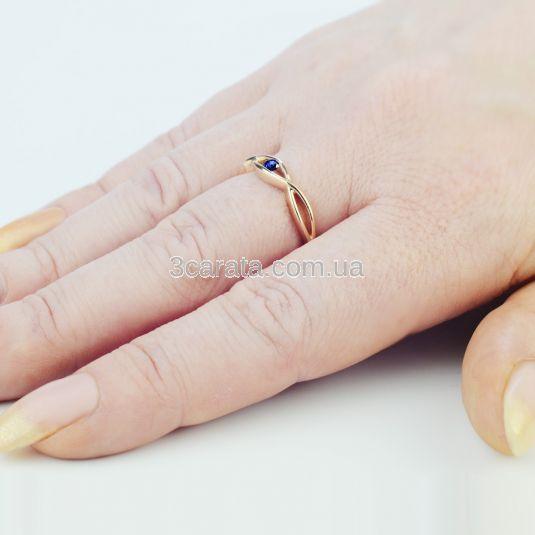 Кольцо для заручин з сапфіром «Дзеркало душі»