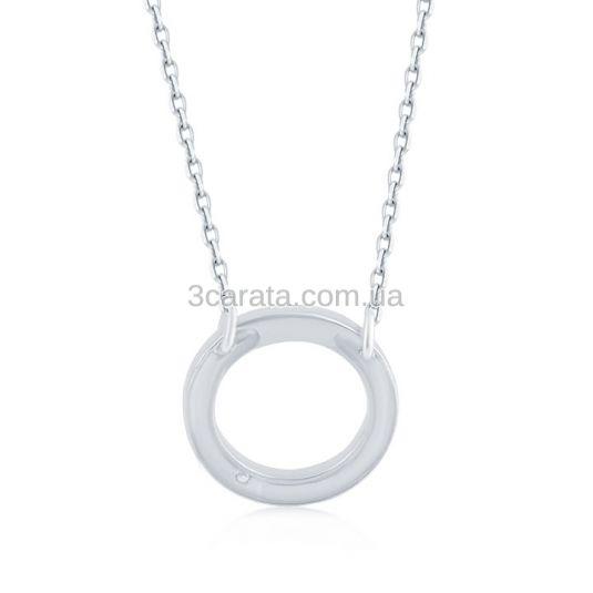 Круглий кулон на ланцюжку з діамантом «Compromise»