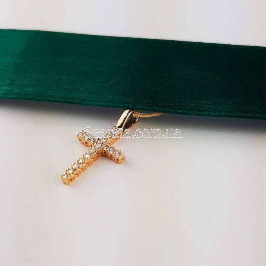 Кулон хрестик з діамантами «Fancy»