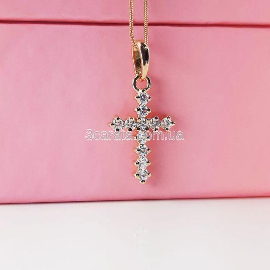 Кулон хрест з камінням Swarovski «А-ля Графф»