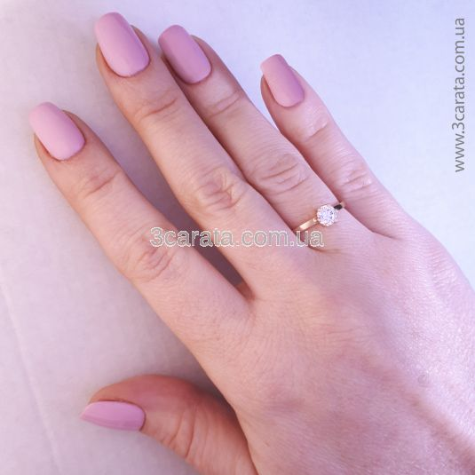 Золоте кольцо з кристалом Сваровські «Мальді»