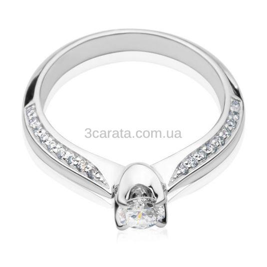 Каблучка заручальна з діамантом  0.28 ct «La Verragio»