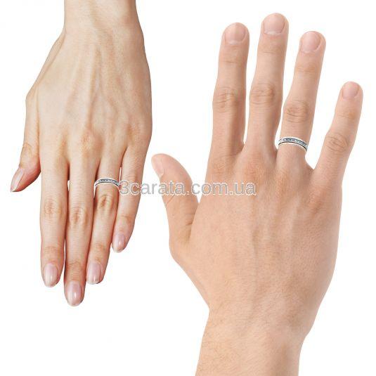 Купить обручальное кольцо с бриллиантом. Обручка з діамантом. Обручка біле золото  діаманти 733b000c4cf76