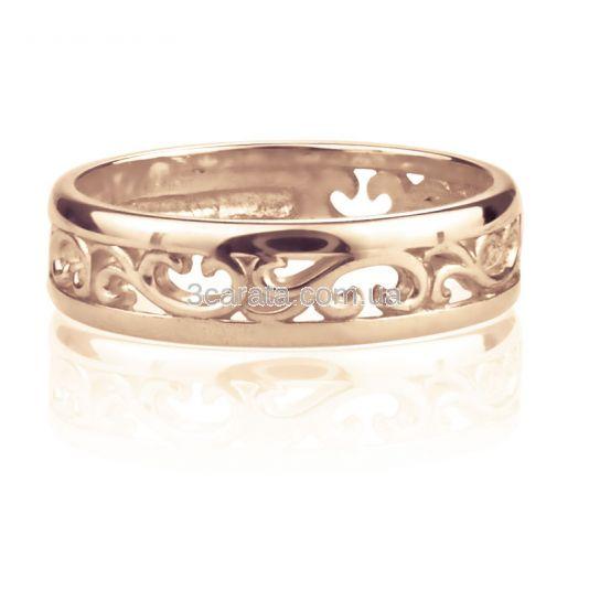 Обручка ажурна золота «Савойя»