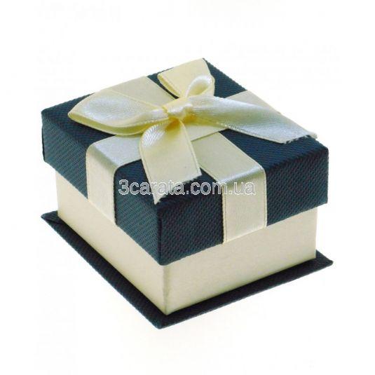 Коробочка подарункова з бантом для каблучки або пусетів
