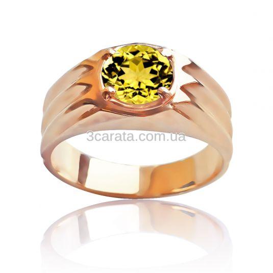 Перстень чоловічий з геліодором «Інтелектуал»