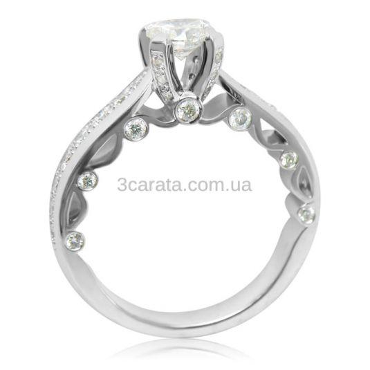 Каблучка з діамантом 0.5 карат «Сяйво любові»
