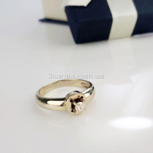 Каблучка на заручини з фіанитом Сваровські «Storks»