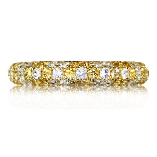 Золота каблучка з цитринами і цирконієм «Monpasie»