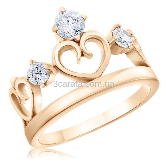 Кільце у формі корони з серцем «Royal Heart» 7c63233e57328