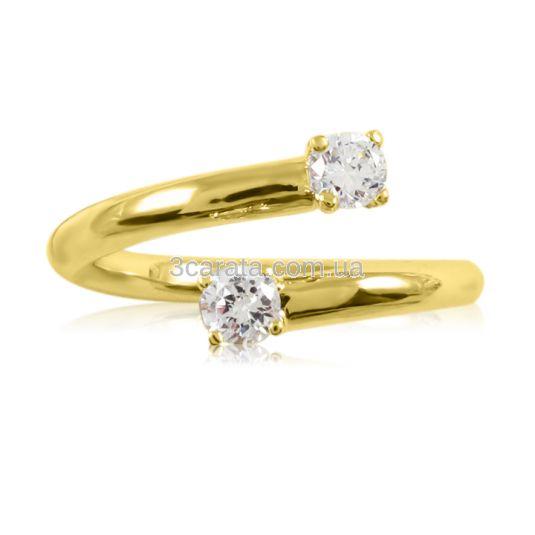 Кольцо на заручини «Два діаманта» по 0,10 карат