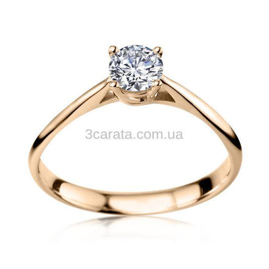 Золота каблучка на заручини з діамантом 0.25 Ct «My dream» 9d086cbd15b00