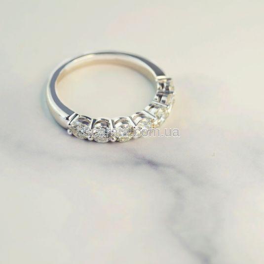 Каблучка з доріжкою крупних діамантів «Like a million»
