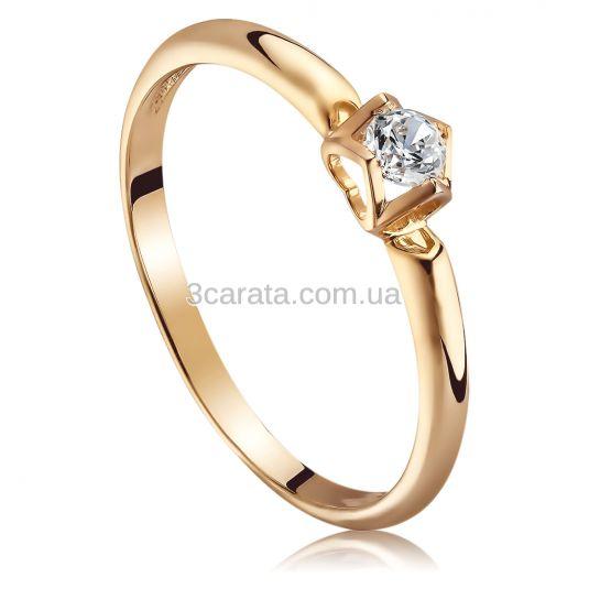 Каблучка для пропозиції з діамантом в сердечках «Amour Classique» 207793405ce94