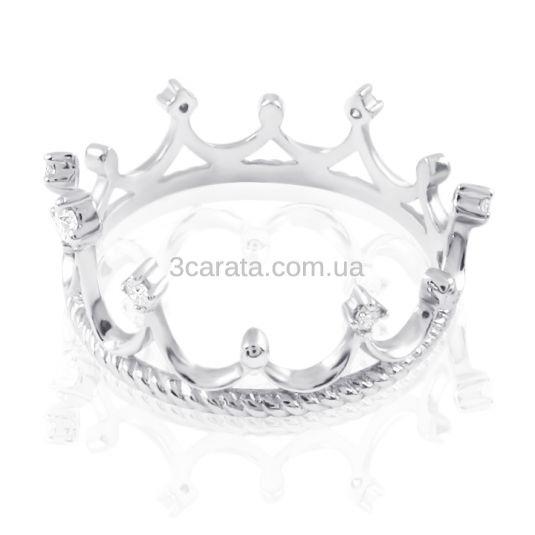 Золота каблучка-корона «Queen of my heart» 79623fe4319ec