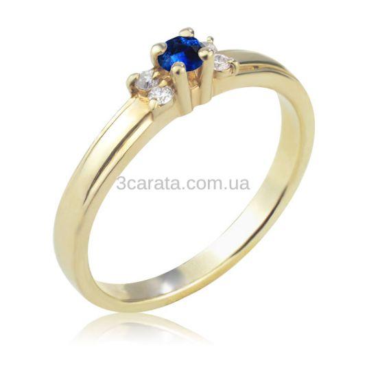 ... Жіноча золота каблучка з сапфіром та діамантами «La Tendresse» c2665715cc7df
