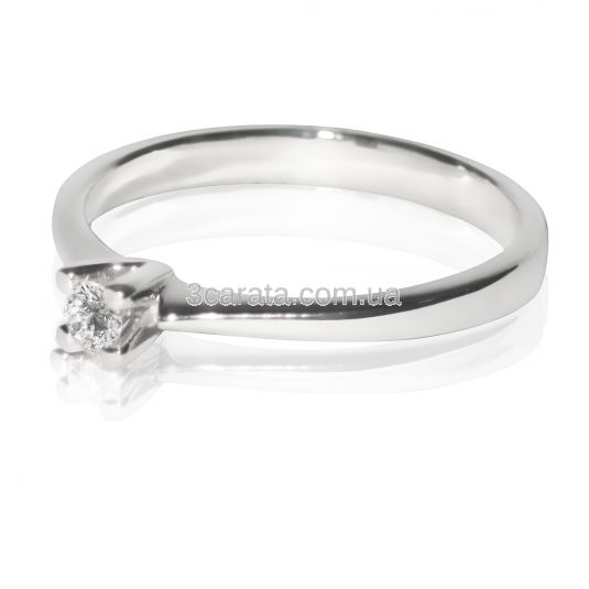 Золота каблучка на заручини з невеликим діамантом 0 f6d14e2690785