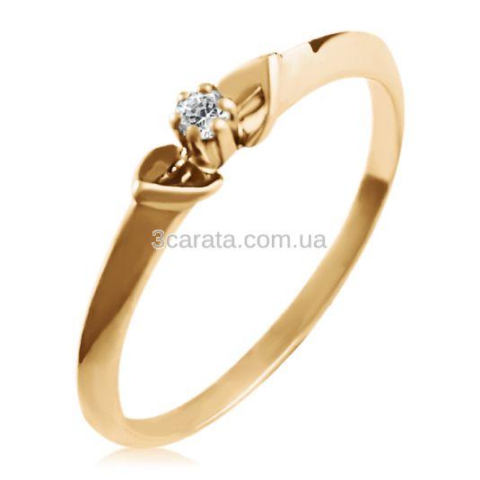 Золота жіноча каблучка з діамантом 0 6a1a260ff6ff0