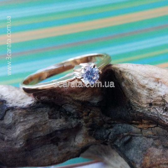 Золоте кільце з Swarovski «Con amore»