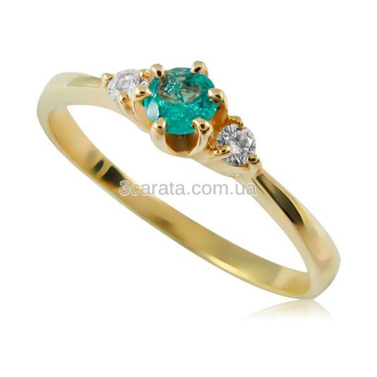 Золоте кільце з смарагдом «Ivanka» 2c9c05bf19057