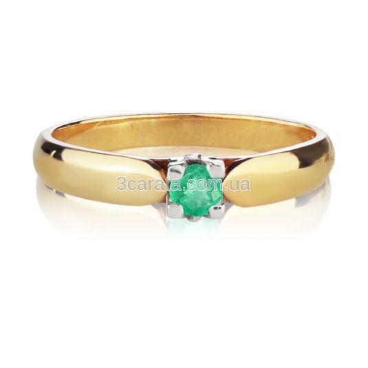 Золота каблучка з смарагдом «Королівна»