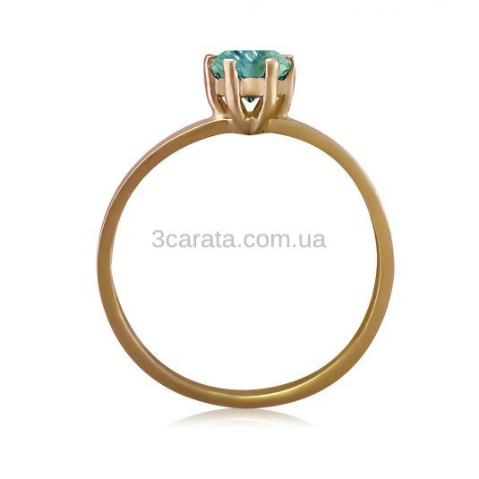Золоте кольцо з зеленим топазом «Мальді»