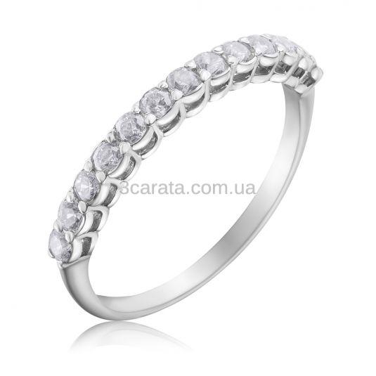 Золота каблучка доріжка c діамантами «Beautify»