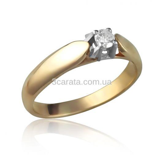 Золота каблучка на заручини «Луїза» a621f9fb9dd15