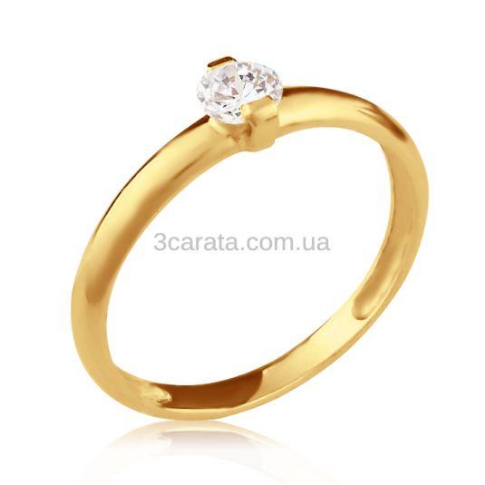 Золота каблучка на заручини «Кохана моя» 82e2e4b19fed6