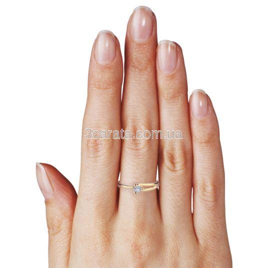Заручальна каблучка з золота з діамантом «Кохання моє»