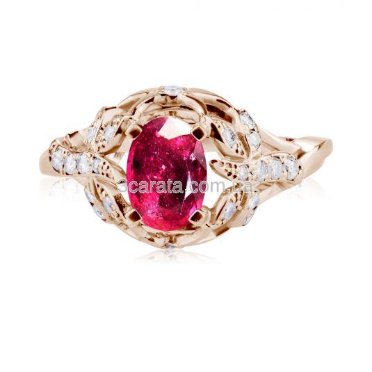Елітне кольцо з рубіном 1,9 Ct «El Secreto»