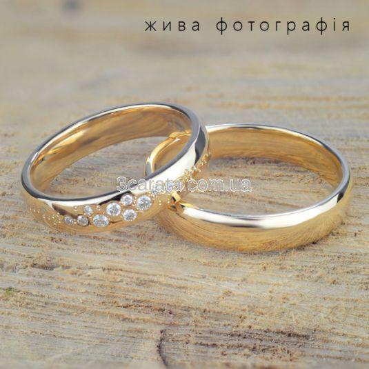 Класична весільна каблучка без каменів «Fedelta»