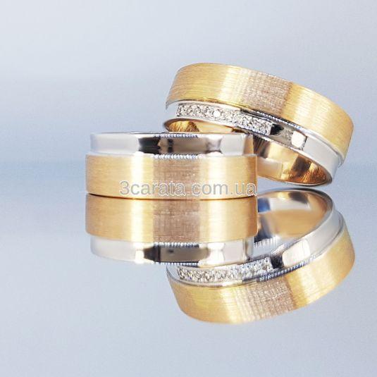 Золота обручка ручної роботи «Свято кохання»