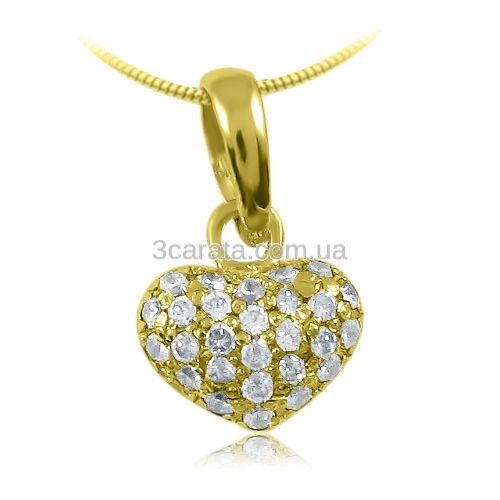 Недорогой кулон из золота