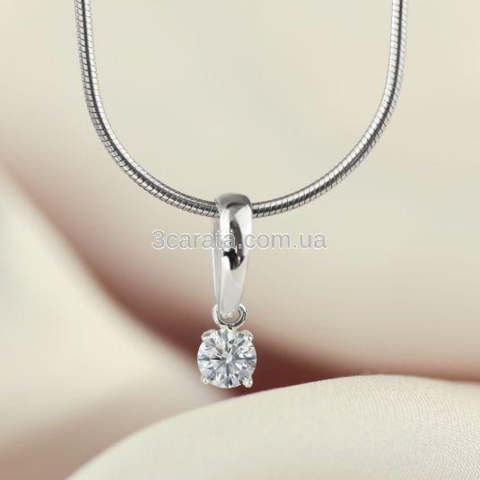 Золотий кулон з одним діамантом 0.25 Ct «Retba»