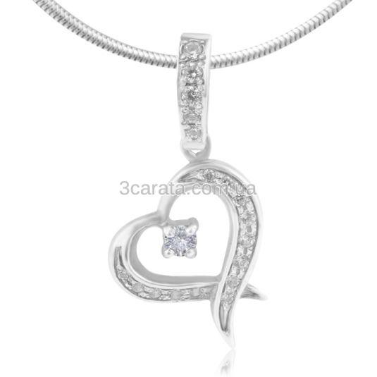 Золотий кулон з діамантами «Мелодія серця»