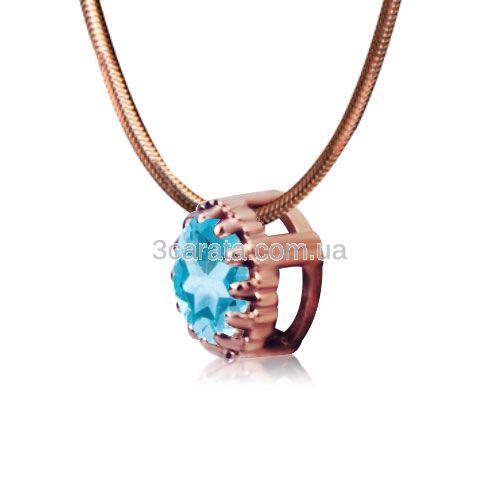 Золотий кулонз топазом «Діамант на лісці»