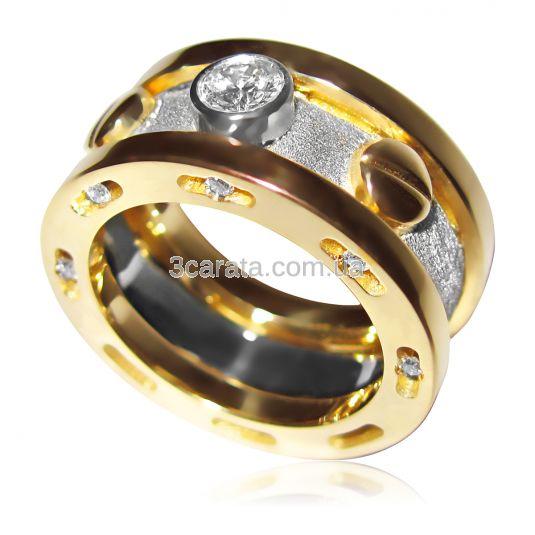 Ексклюзивний чоловічий перстень з діамантами «Арагорн»