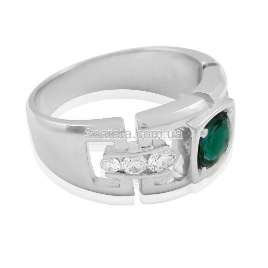 Мужской перстень с изумрудом