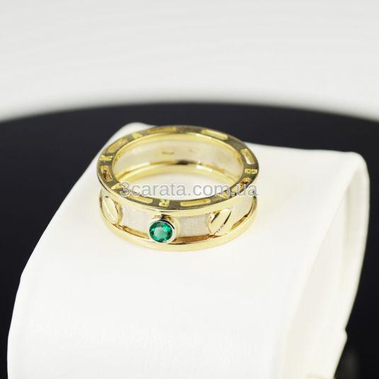 Перстень Барака золотий з смарагдом