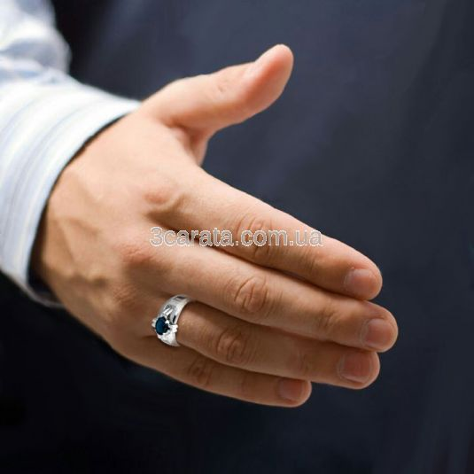 """Золотий перстень з топазом Лондон """"Лицарський орден»"""
