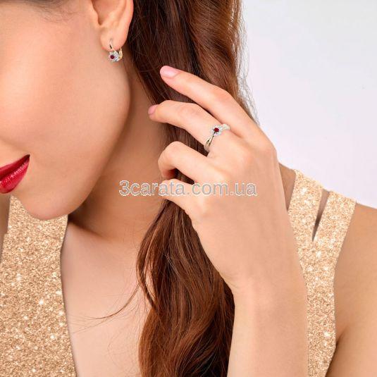 Золотий комплект з рубінами і діамантами «Франсуаза»